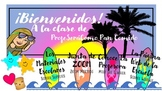 """""""Surfing Style"""" Virtual Classroom Banners & Buttons"""