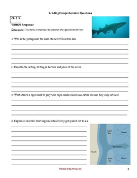 Surrounded by Sharks by Northrop - Novel Questions, incl. maps and diagrams