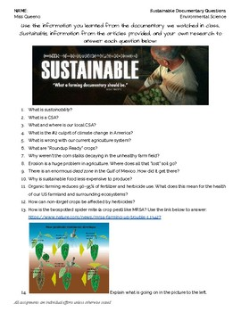 """""""Sustainable"""" Documentary Questions"""