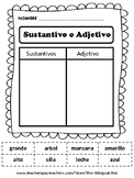 ¿ Sustantivo o Adjetivo? - Noun or Adjective Word Sort