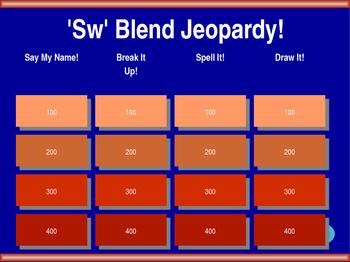 'Sw' Blend Jeopardy!