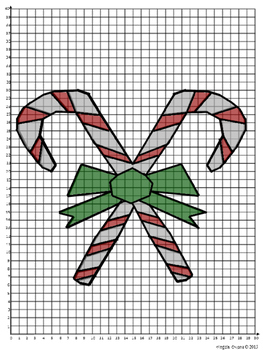 """Sweet"" Christmas Coordinate Graphing Mystery Picture"