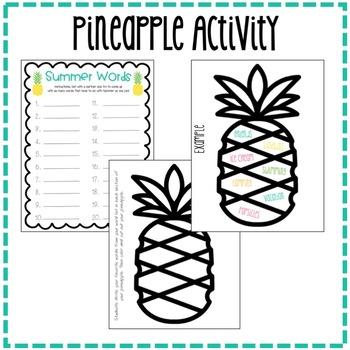 """Sweet Summertime"" End of Year Pineapple Bulletin Board Kit"
