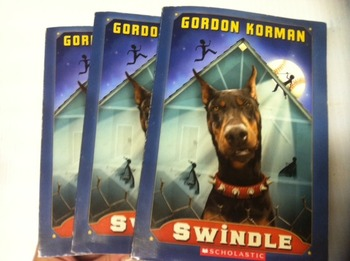 """Swindle"" books, by Gordon Korman - Literature Circle Set"
