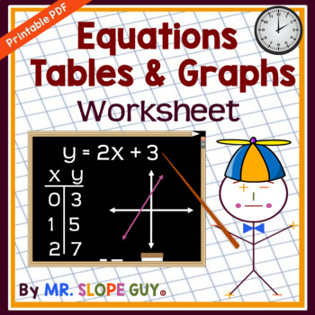"""T-Tables 101"" Graphing Linear Equations PDF Worksheet"