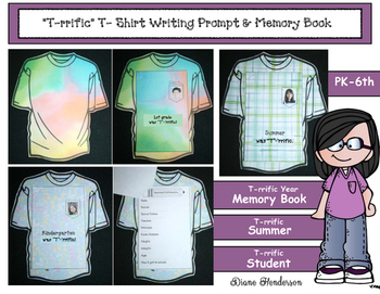 """""""T""""-'rrific Writing Prompt or Memory Book For The Beginning & End of the Year!"""