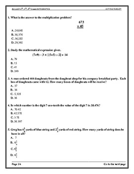 """TARGET"" ACHIEVEMENT TESTS #1 FOR MATHEMATICS CCSS"