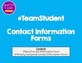 #TEAMStudent Contact Information Forms