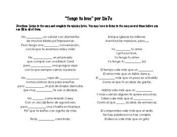 """TENGO TU LOVE"" BY S7ETE & TENER."