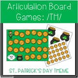 /TH/ Articulation Board Games - St. Patrick's Day Theme