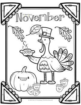 Thanksgiving Activity Punctuation Practice - Color By Code!