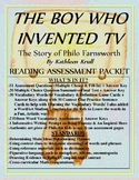 """""""THE BOY WHO INVENTED TV: The Life of Philo Farnsworth"""" Reading 36 Pg. Unit CCSS"""