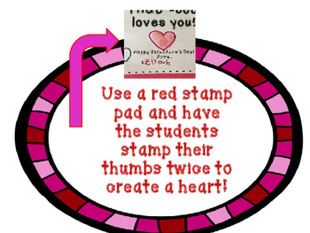 """THUMB BODY LOVES YOU"" easy Valentine Craft"