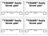 """""""THUMB BODY LOVES YOU"""" easy Valentine Craft"""