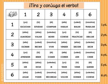 ¡TIRA Y CONJUGA EL VERBO!