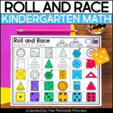 Roll and Race Math Games for Kindergarten