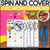 Spin and Cover CVC Activities for Kindergarten
