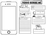 """""""TODO SOBRE MÍ"""" SPANISH Back To School Activity"""