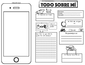 """TODO SOBRE MÍ"" SPANISH Back To School Activity"