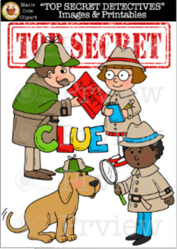 """TOP SECRET DETECTIVES!"" Images and Printables [Marie Cole Clipart]"