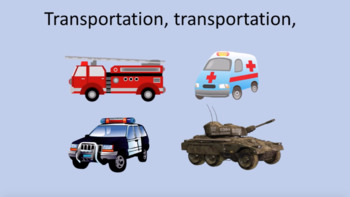 'TRANSPORTATION' (Grades K-3) ~ MP4 Curriculum Karaoke™ READ, SING, LEARN