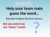 """Taboo"" Free ESL Speaking Game PPT (ESL/EFL/English Vocabulary)"