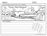 """Tacky the Penguin"" Writing Paper and Rubric"