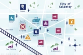 >Take Command Poster - City Map with People