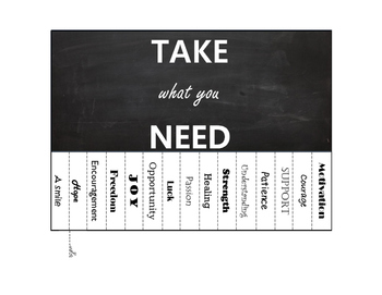 """""""Take What You Need"""" Poster"""