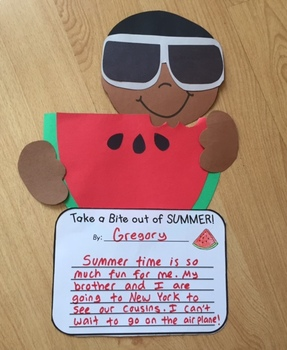 """""""Take a Bite out of SUMMER!"""" A Summer Craftivity"""