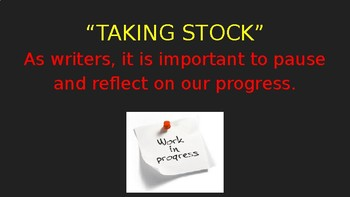 """""""Taking Stock"""" Personal Narrative Writing Reflection (PowerPoint)"""