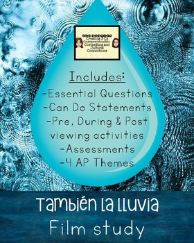 """También la lluvia"" Film Study with pre, during & post viewing activities!"