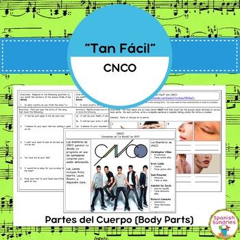 """""""Tan Fácil"""" & Partes del Cuerpo (Body Parts)"""