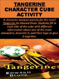 """Tangerine"" Novel Character Cube Activity"