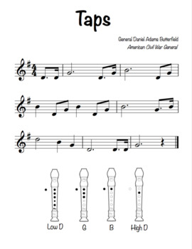 """""""Taps"""" for Recorder (Military Bugle Call)"""