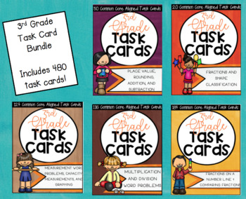 ** Common Core Standard Based Task Cards for All 3rd Grade Math Standards!! **