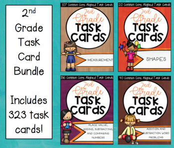 ** Task Cards for All 2nd Grade Math Standards!! Whole Year!! **