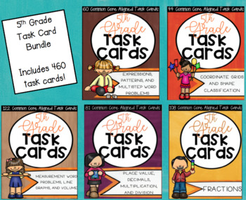 ** Common Core Aligned Math Task Cards for Entire 5th Grade Year**