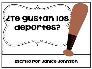 ¿Te gustan los deportes? Spanish Gustar Sports Reader & Build-A-Book