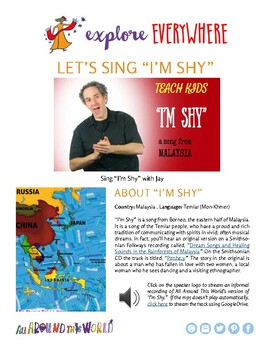 """Teach Kids About Southeast Asia -- Let's Sing 'I'm Shy'"""