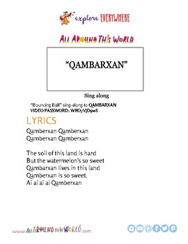 """Teach Kids About Western China -- Let's Sing Qambarxan"""