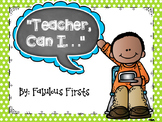 """""""Teacher, Can I...?"""" Visual Direction and Supply Management Cards"""