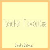 ☀️ Teacher Favorites