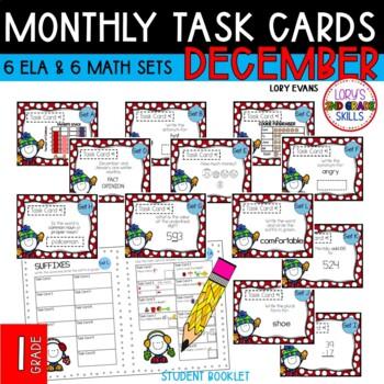"""""""Teacher, I'm Done!"""" Task Cards January 1st GRADE"""