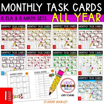 """1st Grade """"Teacher, I'm Done!"""" Task Cards for ALL YEAR"""