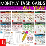 "1st Grade ""Teacher, I'm Done!"" Task Cards for ALL YEAR"