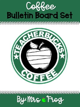 """Teacherbucks"" Coffee Bulletin Board Set"