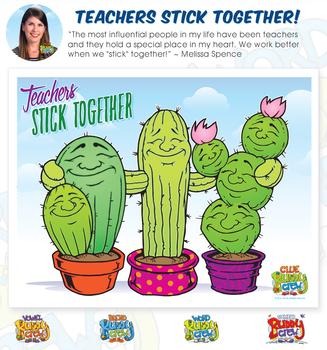 Teachers Stick Together Poster