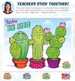 Teachers Stick Together Poster