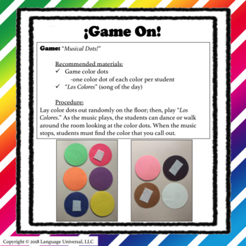 ¡Teaching Colors In Spanish!